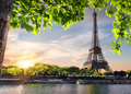 Sunset and Eiffel Tower - PhotoDune Item for Sale