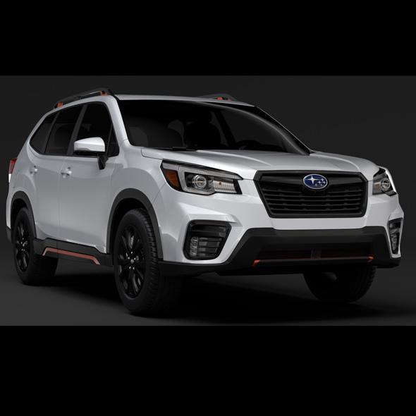 Subaru Forester 2019 - 3DOcean Item for Sale