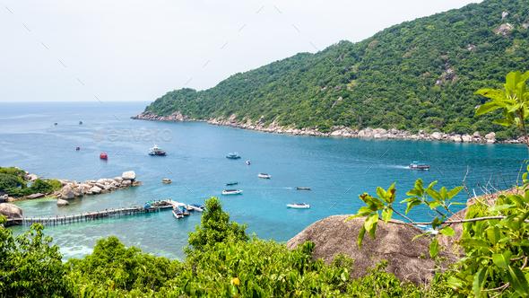 Sea at Tao and Nang Yuan island - Stock Photo - Images