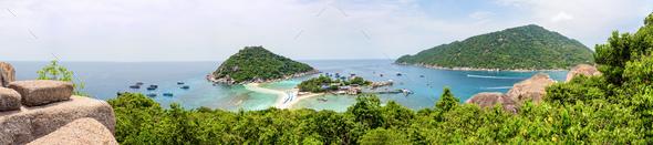 Panorama Koh Nang Yuan Island - Stock Photo - Images