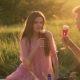 Beautiful Couple on a Picnic on Sunset in Soft Sunlight - VideoHive Item for Sale