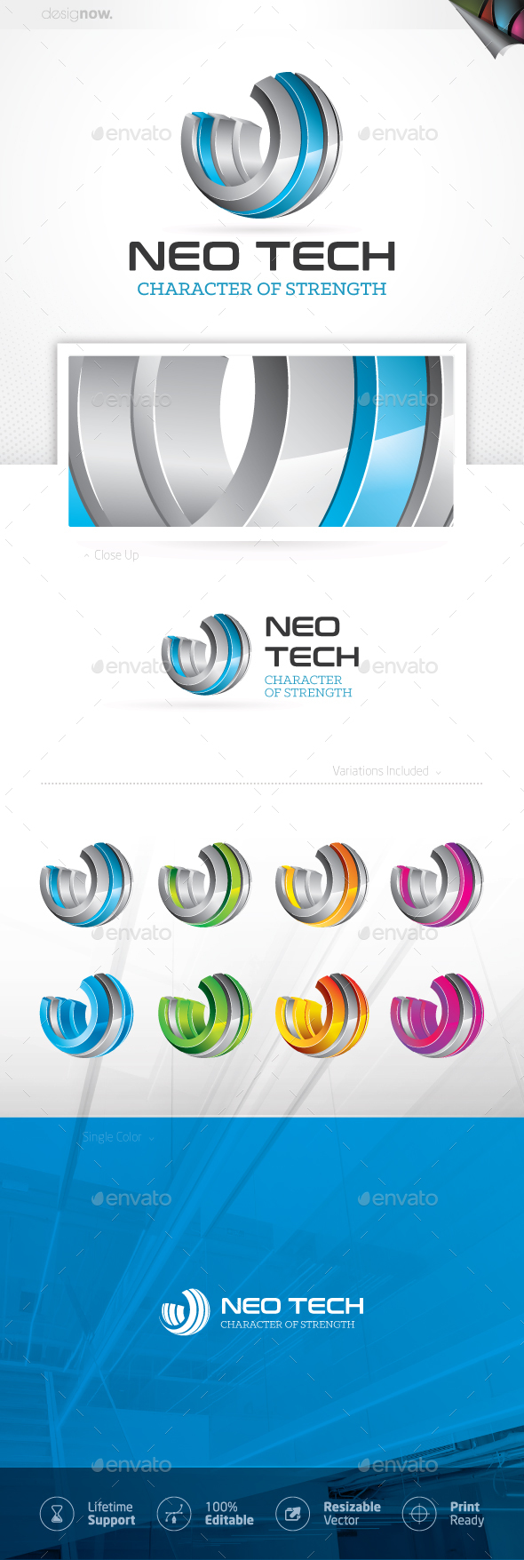 Neo Tech Logo - 3d Abstract