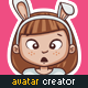 Cartoon Girl Avatar Creation Kit with 40 Pre-Made Characters