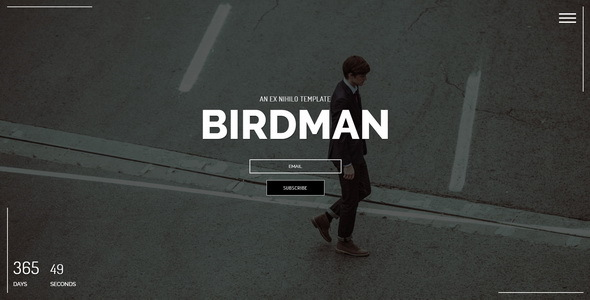 Birdman || Responsive Coming Soon Page - Under Construction Specialty Pages