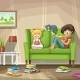Two Children Reading Are Reading Books - GraphicRiver Item for Sale