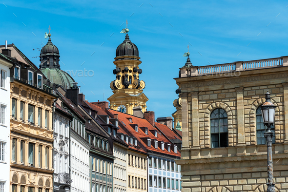 Old houses in downtown Munich - Stock Photo - Images