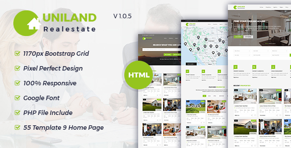 Uniland - Real Estate HTML5 Template - Business Corporate