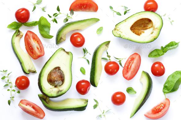 Food Background Avocado - Stock Photo - Images