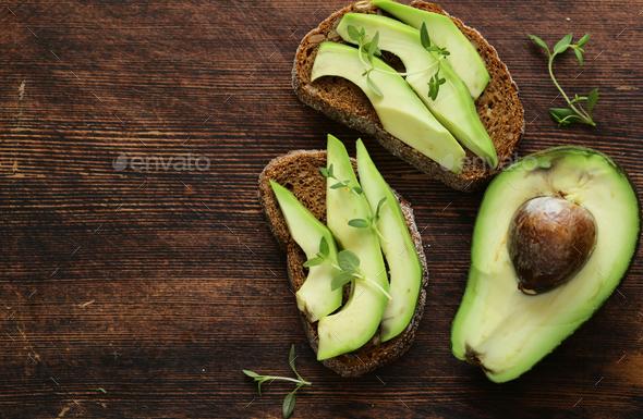 Avocado Sandwich - Stock Photo - Images