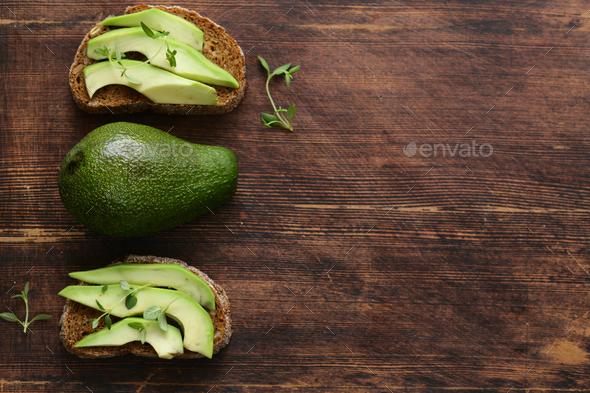 Avocado Sandwich - Stock Photo - Images