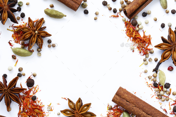 Background of Various Spices - Stock Photo - Images