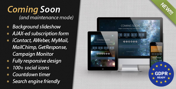 Coming Soon and Maintenance Mode - CodeCanyon Item for Sale