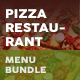 Pizza Restaurant Menu Print Bundle 3