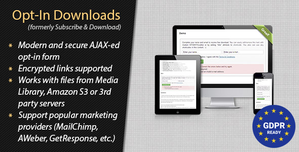 Opt-In Downloads - WordPress Plugin - CodeCanyon Item for Sale