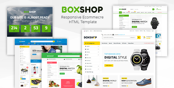 Boxshop - Responsive Ecommerce HTML5 Template