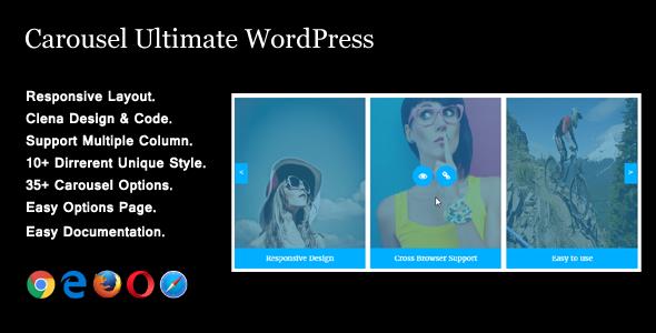 Carousel Ultimate - Advanced Carousel WordPress Plugin - CodeCanyon Item for Sale