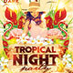 Tropical Night Party - GraphicRiver Item for Sale
