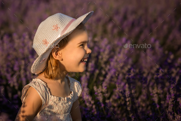 Lavender girl - Stock Photo - Images