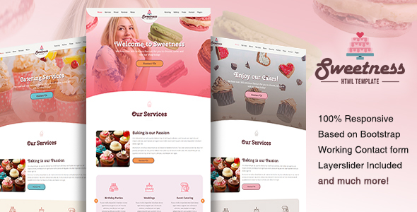 Sweetness – One Page HTML Template