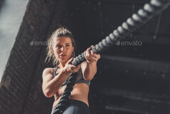 Young athletic girl in training - Stock Photo - Images