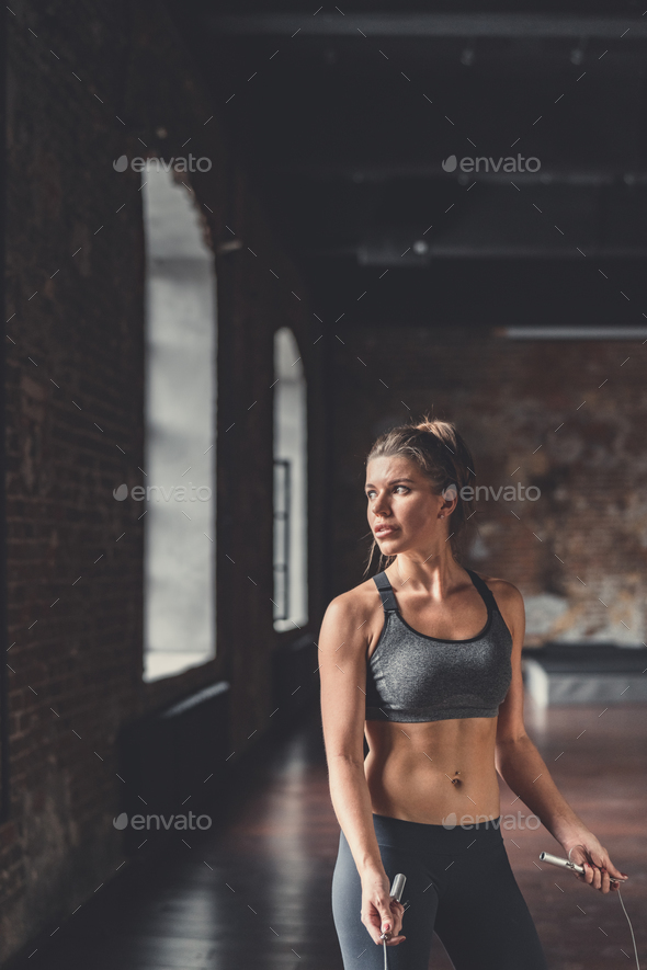 Young athletic girl in cross-training - Stock Photo - Images