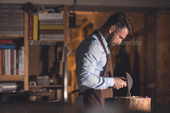 Mature master at work - Stock Photo - Images