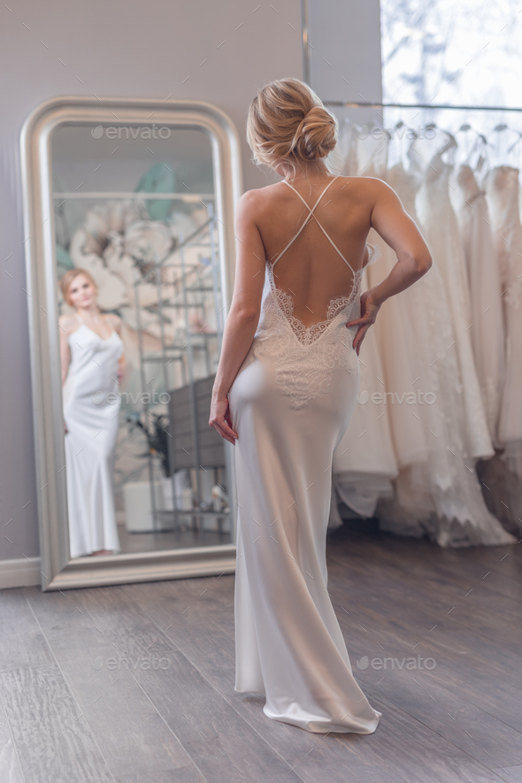 Attractive bride in a dress - Stock Photo - Images