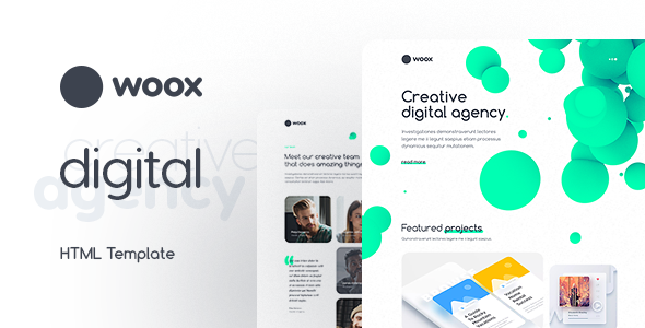 Woox – Creative Portfolio HTML Website Template