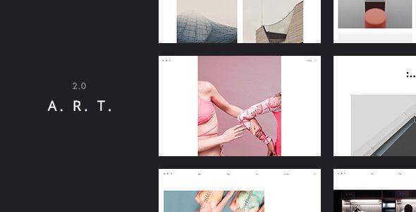 Art. Simple & Clean WordPress Theme for Creatives