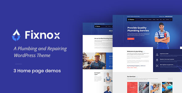 Fixnox - A Perfect Plumbing WordPress Theme - Business Corporate