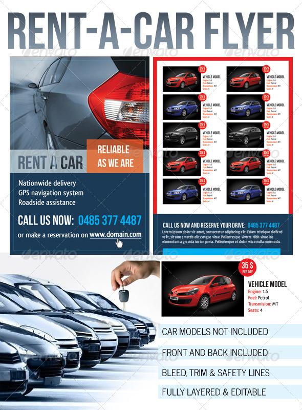 Rent a Car Flyer - Commerce Flyers