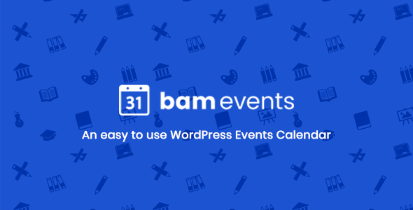 Bam Events - WordPress Event Calendar Plugin - CodeCanyon Item for Sale