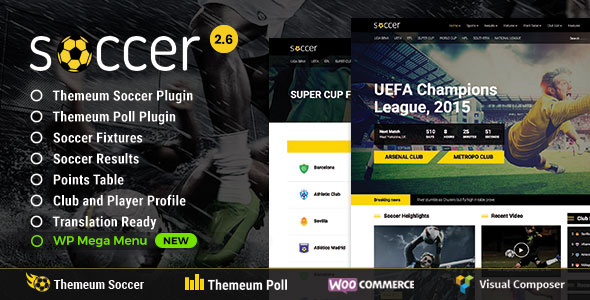 Soccer - Sport WordPress Theme for Football, Sport Club, Sport Team - Nonprofit WordPress