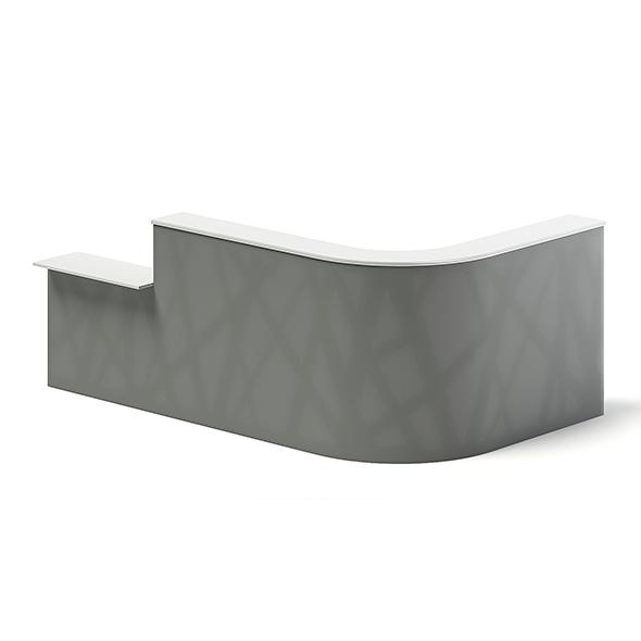 Rectangular Reception Desk 3D Model - 3DOcean Item for Sale