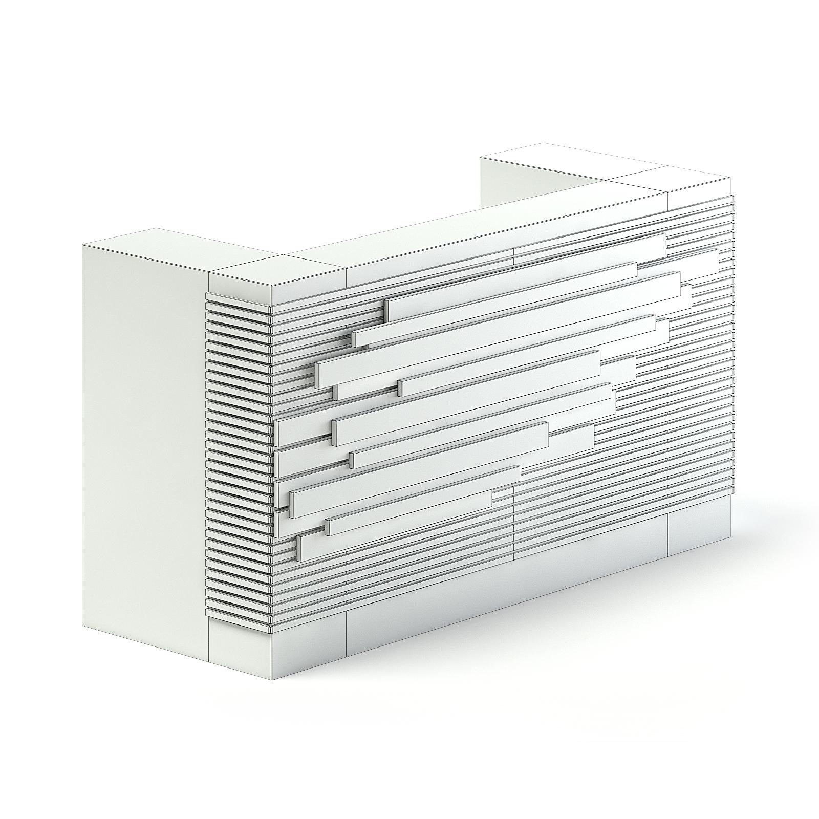 Rectangular Reception Desk 3D Model