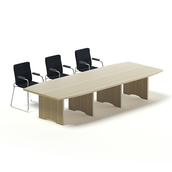 Conference Table 3D Model - 3DOcean Item for Sale