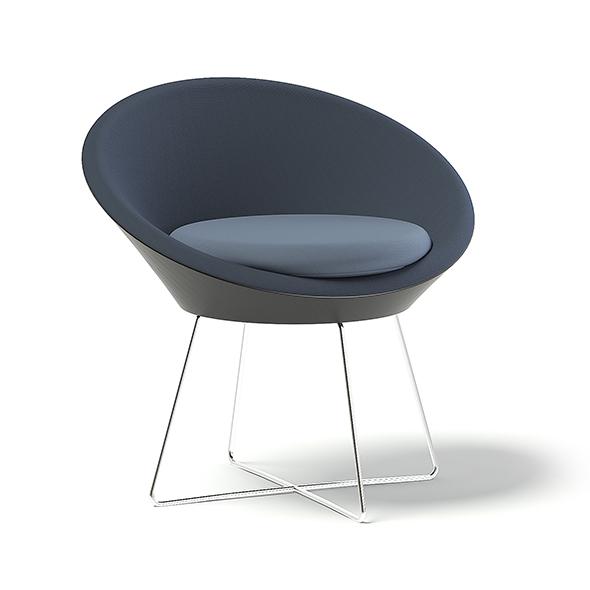 Round Armchair 3D Model - 3DOcean Item for Sale