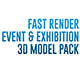 Event and Exhibition 3d Model Pack