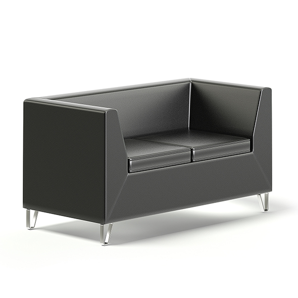 Black Sofa 3D Model - 3DOcean Item for Sale