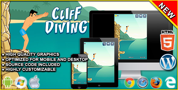 Cliff Diving - HTML5 Skill Game            Nulled