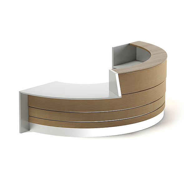 Round Reception Desk 3D Model - 3DOcean Item for Sale