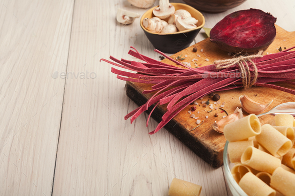 Cooking handmade pasta background - Stock Photo - Images