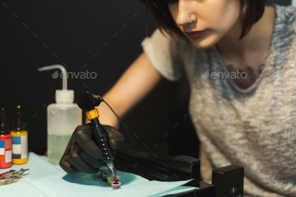 Special paint for doing tattoo - Stock Photo - Images