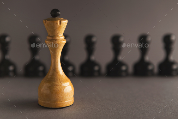 Abstract leadership business concept with chess - Stock Photo - Images