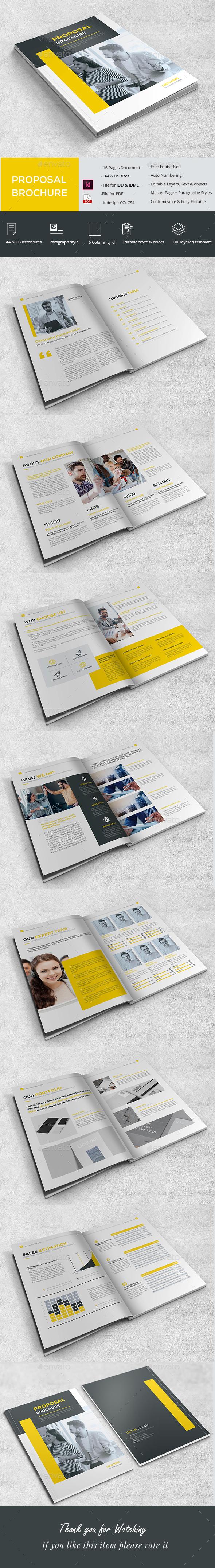 Simple Proposal Brochure - Brochures Print Templates