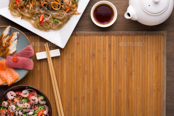 Asian style food, restaurant serving - Stock Photo - Images