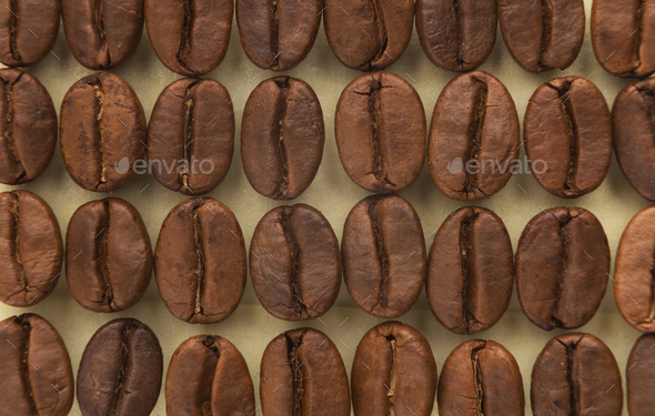 Coffee beans background, closeup - Stock Photo - Images