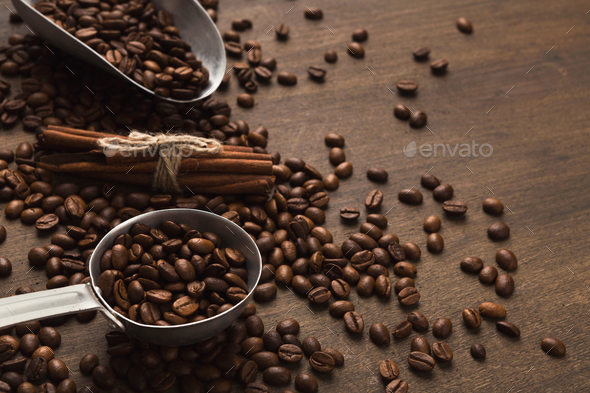 Retro coffee grinder on old wooden table - Stock Photo - Images