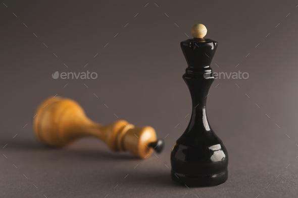 Black Queen wins - Stock Photo - Images