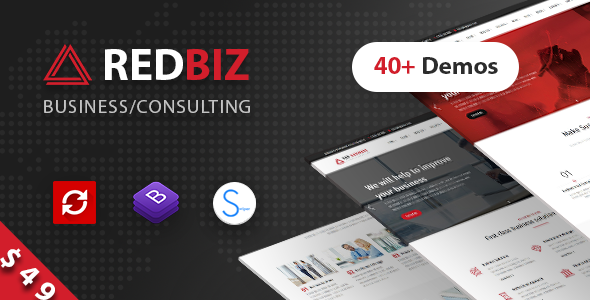 RedBiz – Finance & Consulting Multi-Purpose WordPress Theme